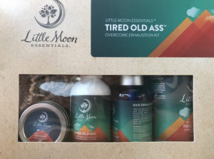 tired old ass bath soak, lotion and aftershave, sold at mountainside spa holladay utah