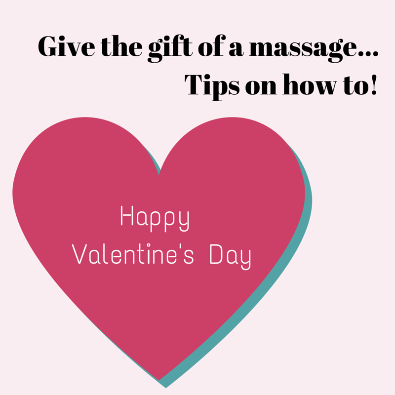 Give the gift of a romantic massage
