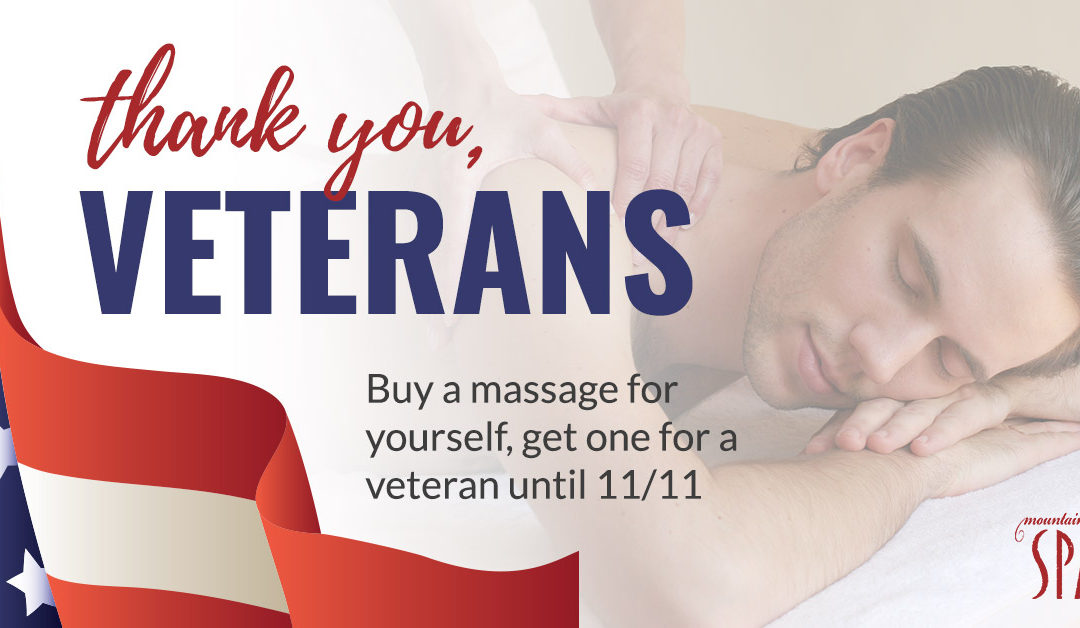 A Relaxing and Beneficial Veteran's Day Special